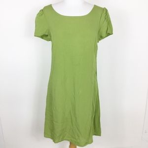Modcloth Green Lace Up Back Dress NWOT sz. Medium